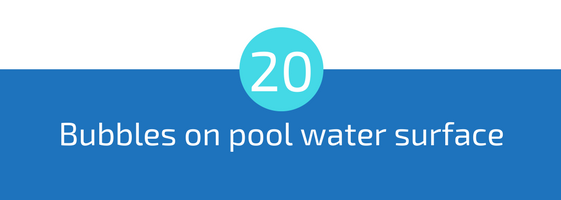 bubbles or foam on pool water surface troubleshooting pools guide 25 most common pool water problems